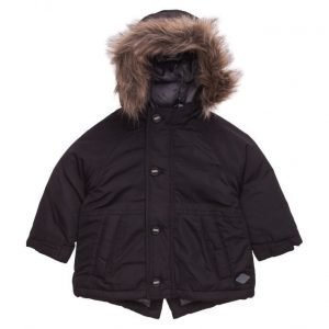 Mango Kids Faux Fur Hood Coat