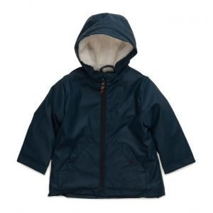 Mango Kids Faux-Fur Hood Water-Repellent Coat