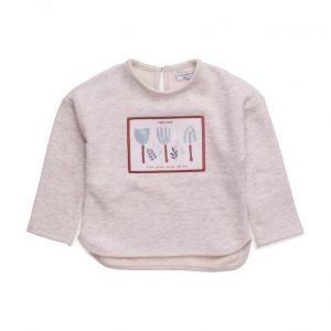 Mango Kids Flecked Cotton-Blend Sweatshirt