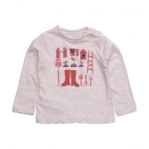 Mango Kids Flecked Cotton-Blend T-Shirt