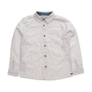 Mango Kids Flecked Cotton Shirt