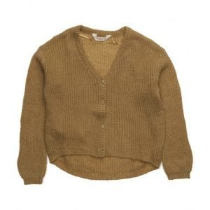 Mango Kids Flecked Fine-Knit Cardigan