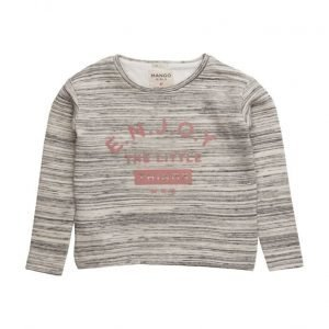 Mango Kids Flecked Message Sweatshirt