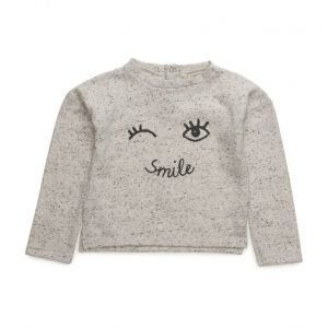 Mango Kids Flecked Printed Sweatshirt