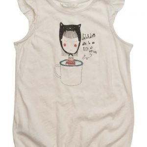 Mango Kids Frilled Print T-Shirt