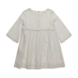 Mango Kids Fringed Polka-Dot Dress