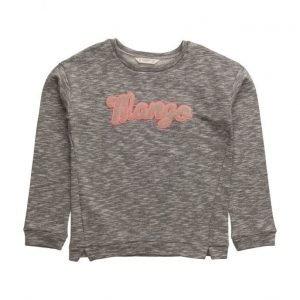 Mango Kids Logo Cotton Sweatshirt