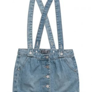 Mango Kids Medium Denim Pinafore Dress