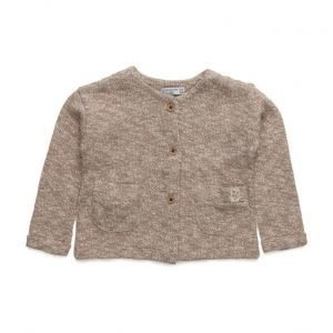 Mango Kids Metallic Cotton-Blend Cardigan