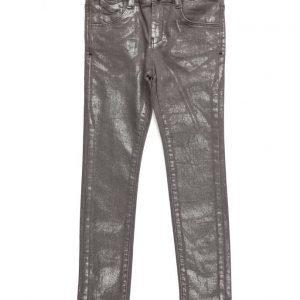 Mango Kids Metallic-Effect Slim Jeans