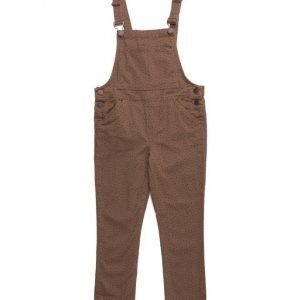 Mango Kids Printed Cotton Dungarees
