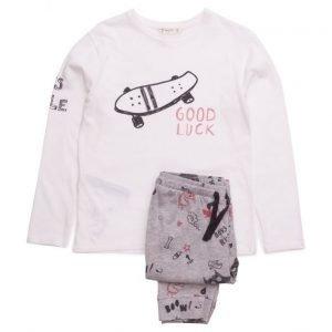 Mango Kids Printed Long Pyjamas