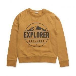 Mango Kids Printed Plush Cotton Sweatshirt