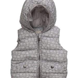 Mango Kids Printed Quilted Gilet