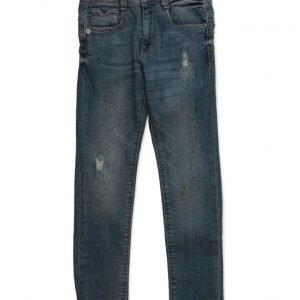 Mango Kids Ripped Details Slim-Fit Jeans