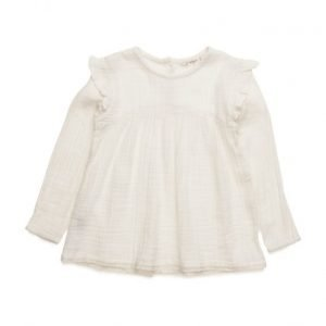 Mango Kids Ruffled Cotton Shirt