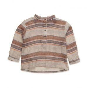 Mango Kids Striped Cotton Shirt