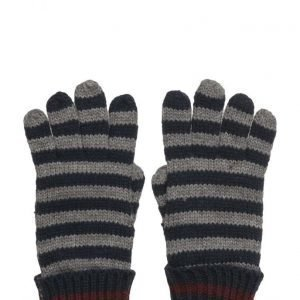 Mango Kids Striped Knit Gloves