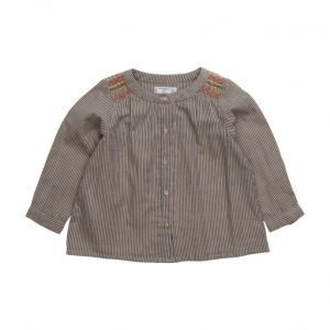 Mango Kids Stripes Cotton Shirt