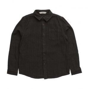 Mango Kids Textured Flannel Shirt