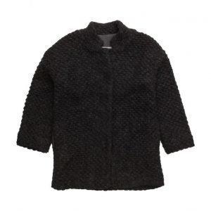 Mango Kids Textured Wool-Blend Coat