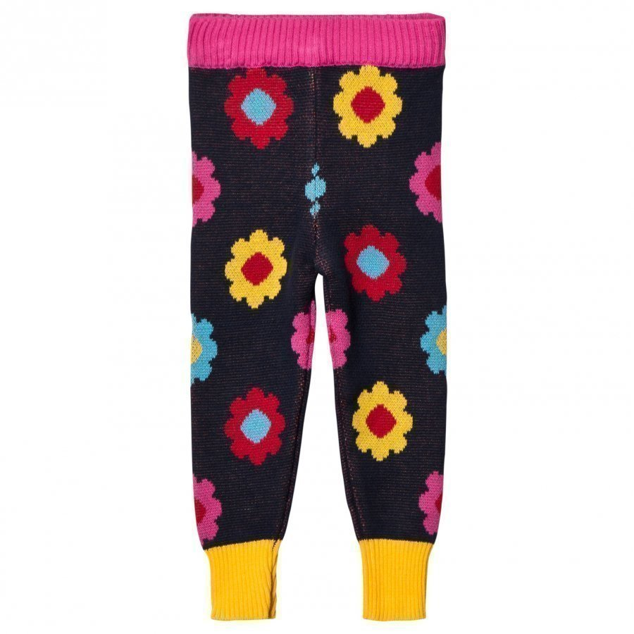 Margherita Kids Black Multi Double Knit Legging Legginsit