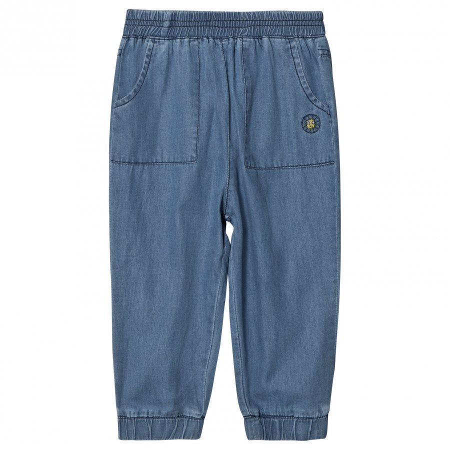 Margherita Kids Chambray Denim Track Pants Verryttelyhousut