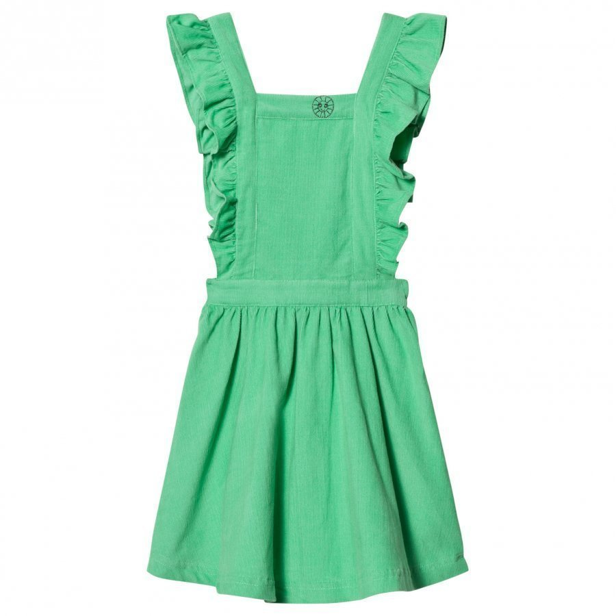Margherita Kids Green Cord Pinnafore Dress Mekko