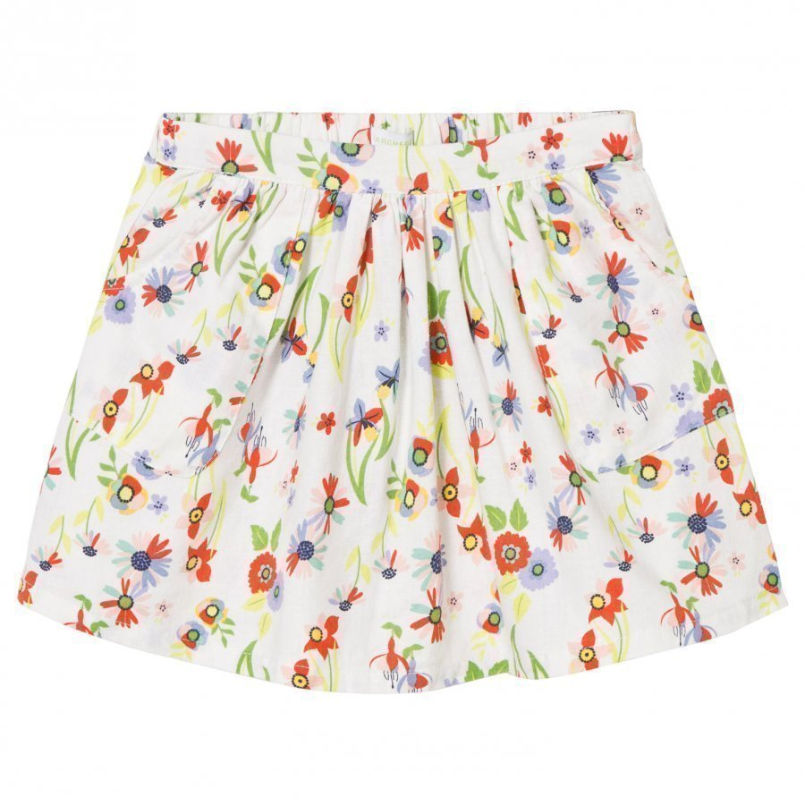 Margherita Kids Multi Floral Print Skirt Lyhyt Hame