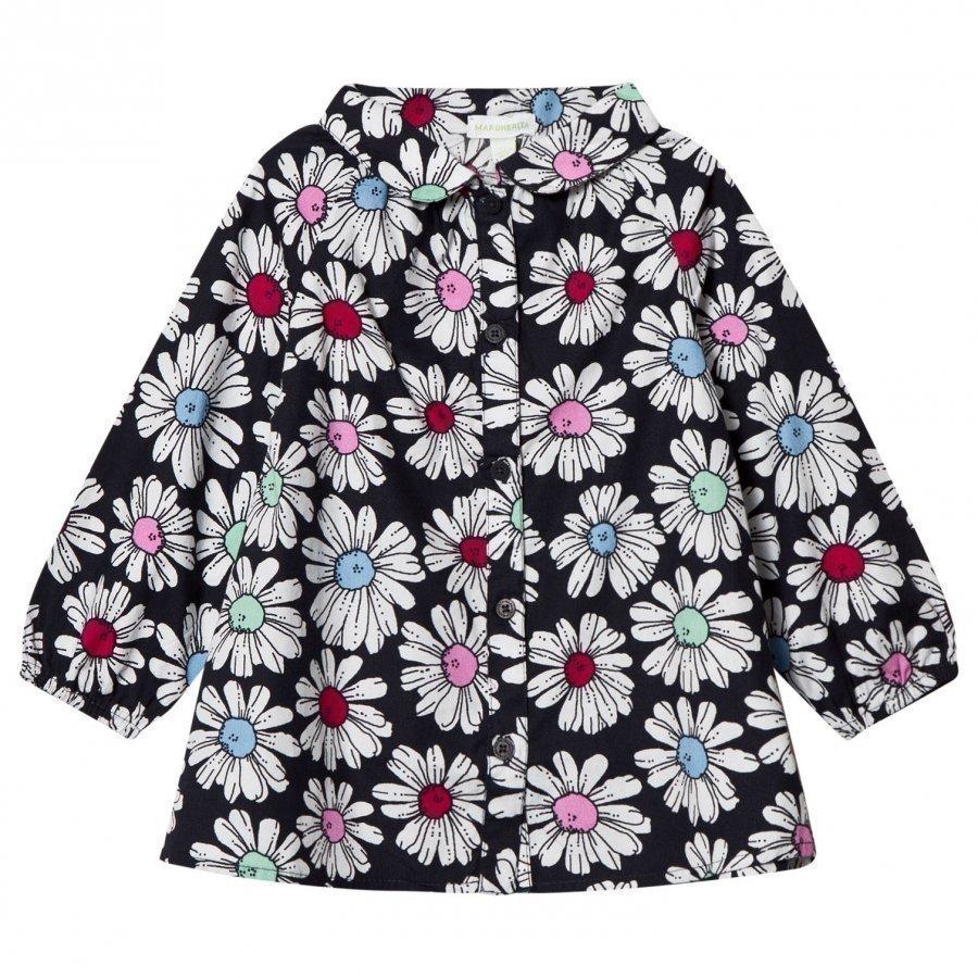 Margherita Kids Multi Floral Printed Daisy Camo Smock Shirt Kauluspaita