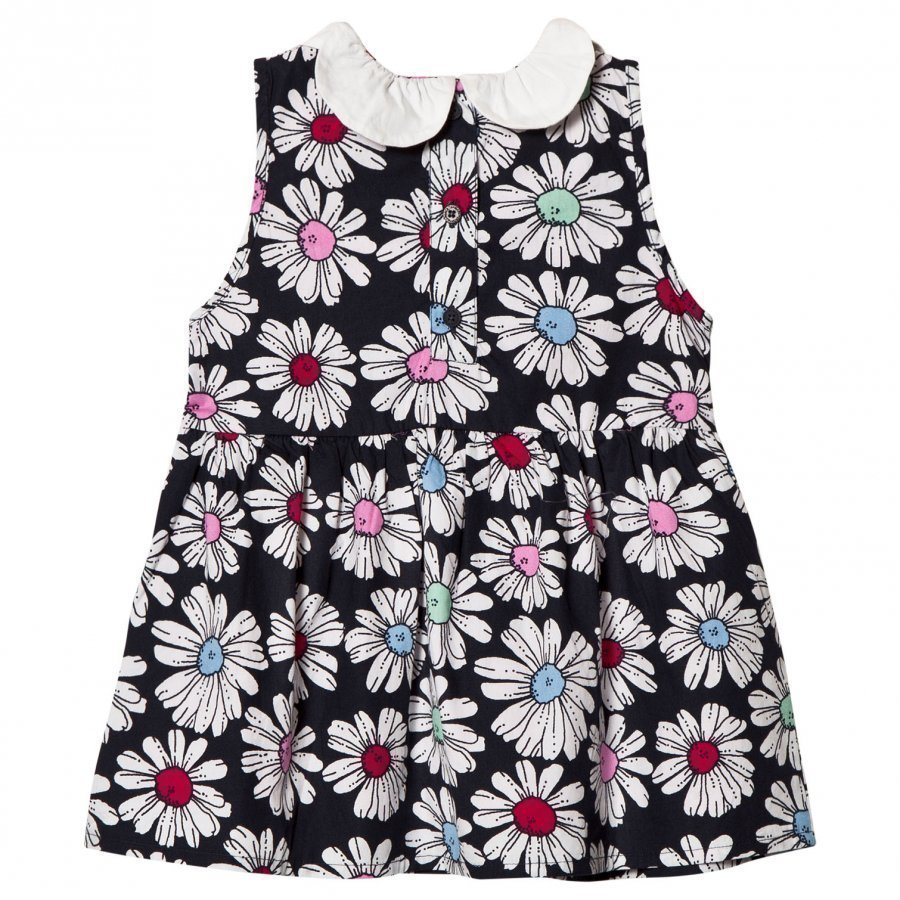 Margherita Kids Multi Floral Printed Daisy Collar Dress Mekko