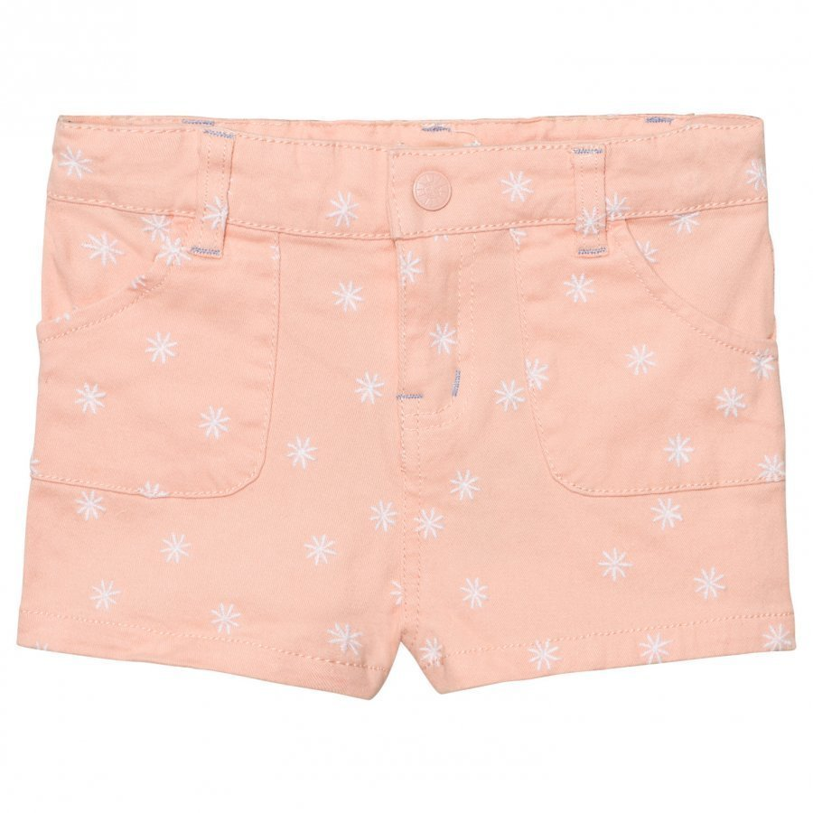 Margherita Kids Pink And White Spot Twill Shorts Juhlashortsit