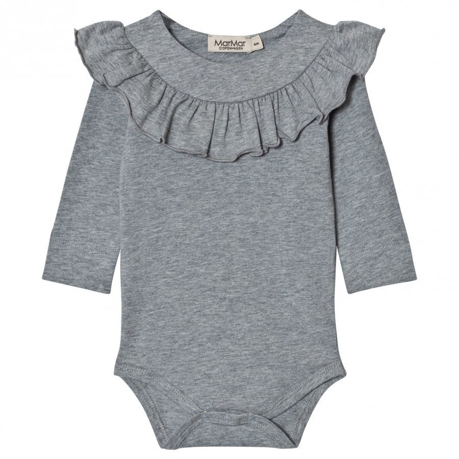 Marmar Copenhagen Bibbi Baby Body Grey Melange Body