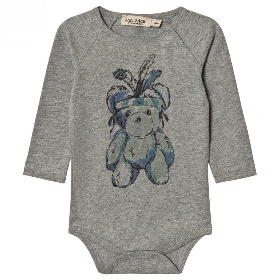 Marmar Copenhagen Bo Baby Body Teddy Grey Melange Body