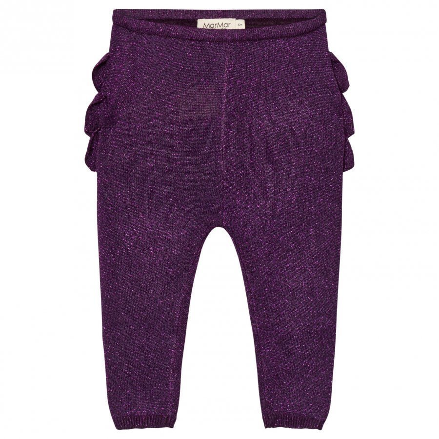 Marmar Copenhagen Pax Frill Leggings Purple Night Legginsit