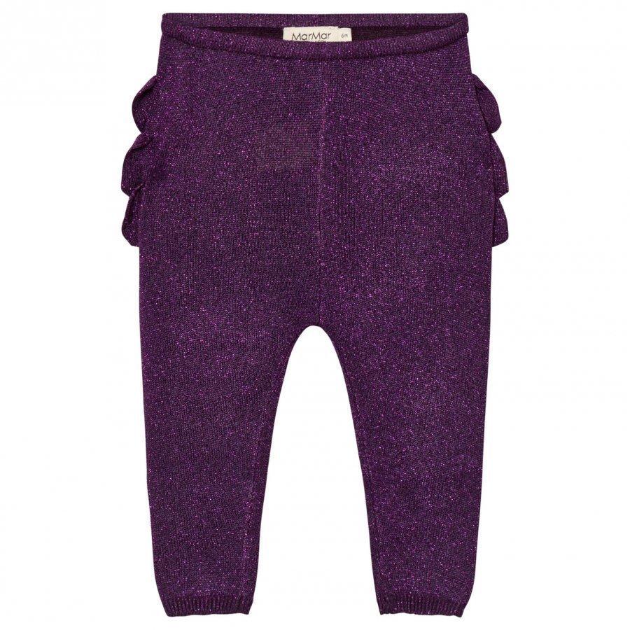 Marmar Copenhagen Pax Frill Leggings Purple Night Legginsit