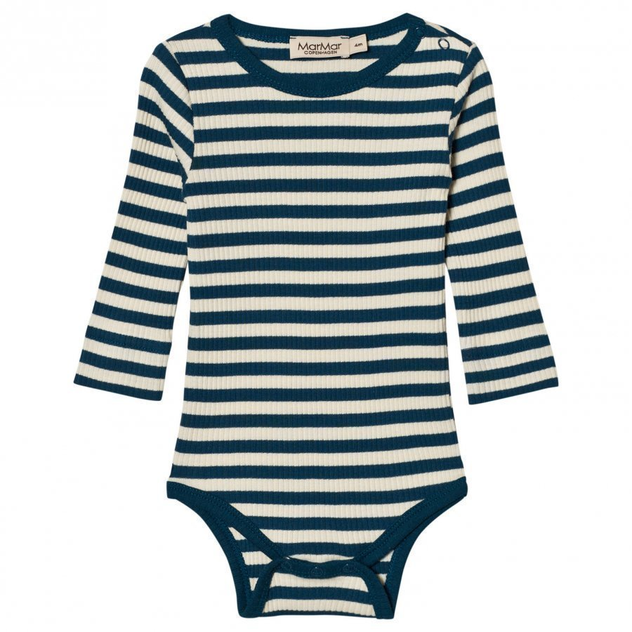 Marmar Copenhagen Plain Baby Body Blue Abyss Stripe Body