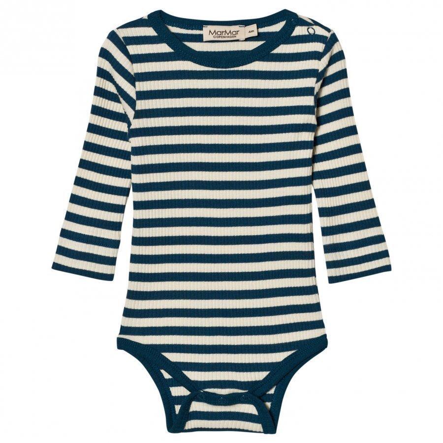 Marmar Copenhagen Plain Baby Body Blue Abyss Stripe Body
