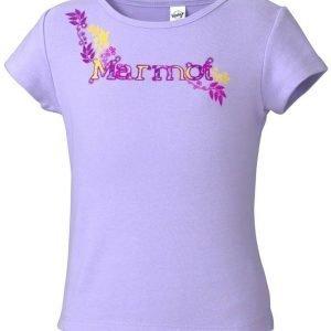 Marmot Girl's Whimsy Tee Shirt Paita Lila