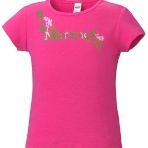 Marmot Girl's Whimsy Tee Shirt Paita Pinkki