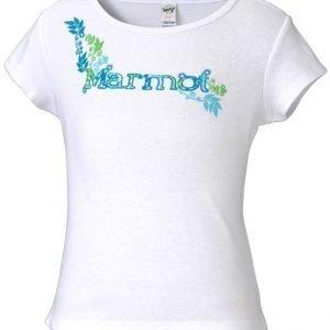Marmot Girl's Whimsy Tee Shirt Paita Valkoinen