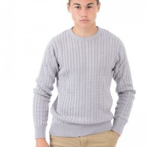 Marqy Classic Cable Knit Neule Harmaa