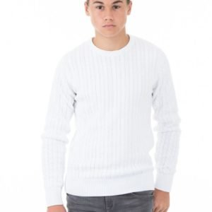 Marqy Classic Cable Knit Neule Valkoinen