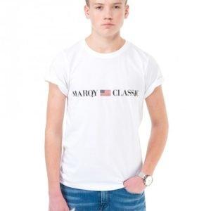 Marqy Classic Preston Ss Tee T-Paita Valkoinen