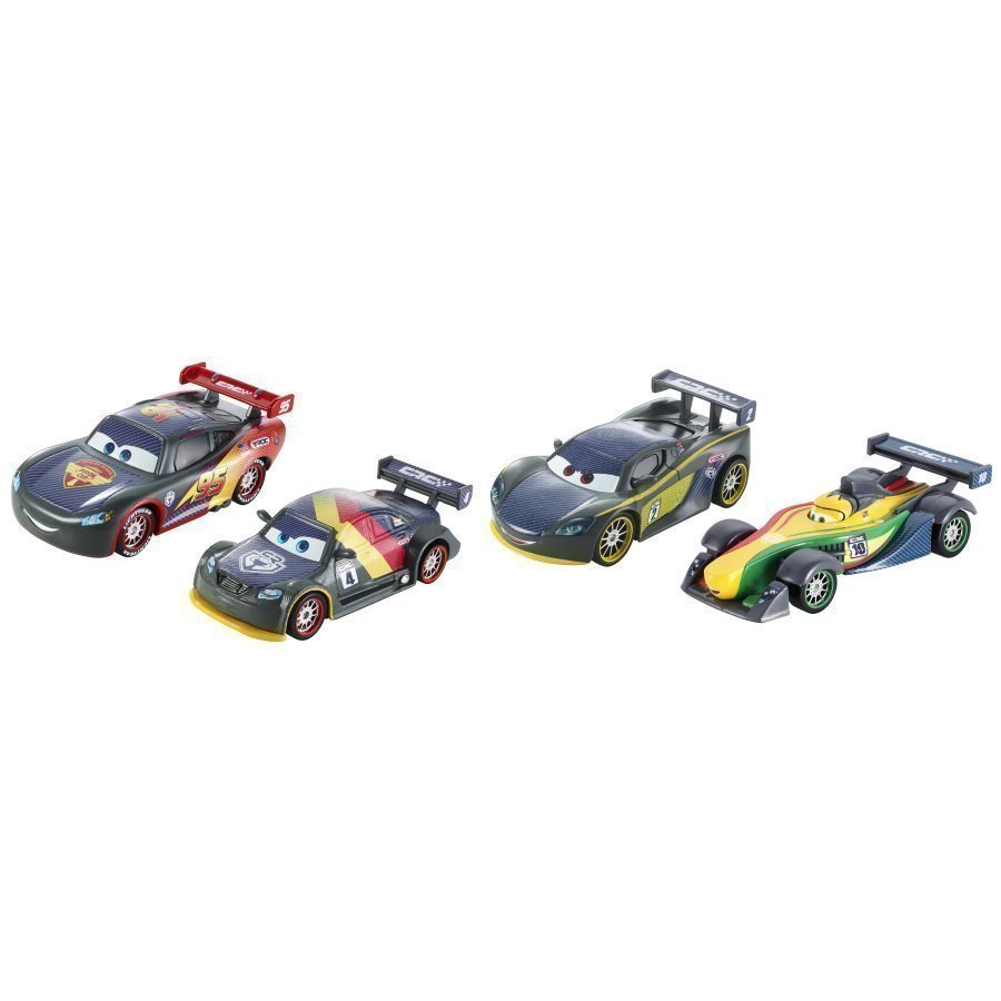 Mattel Disney / Pixar Autot Carbon Racers Carbon Speed 4 Pack