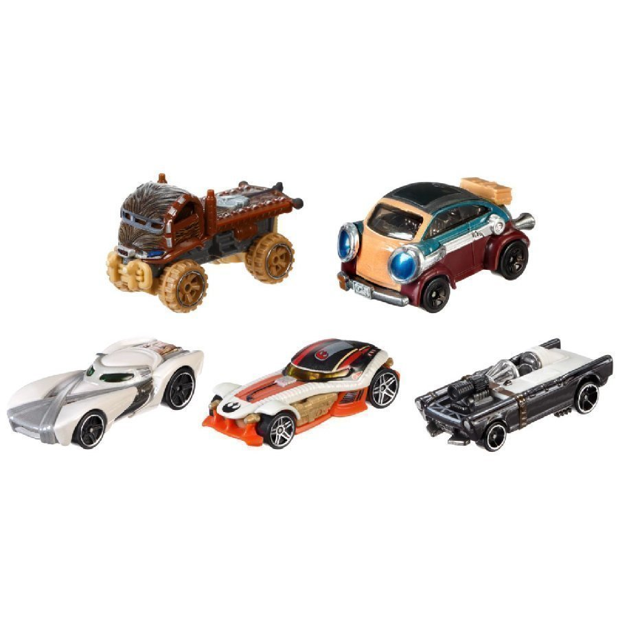 Mattel Hot Wheels Star Wars Heroes Of The Resistance 5 Pack