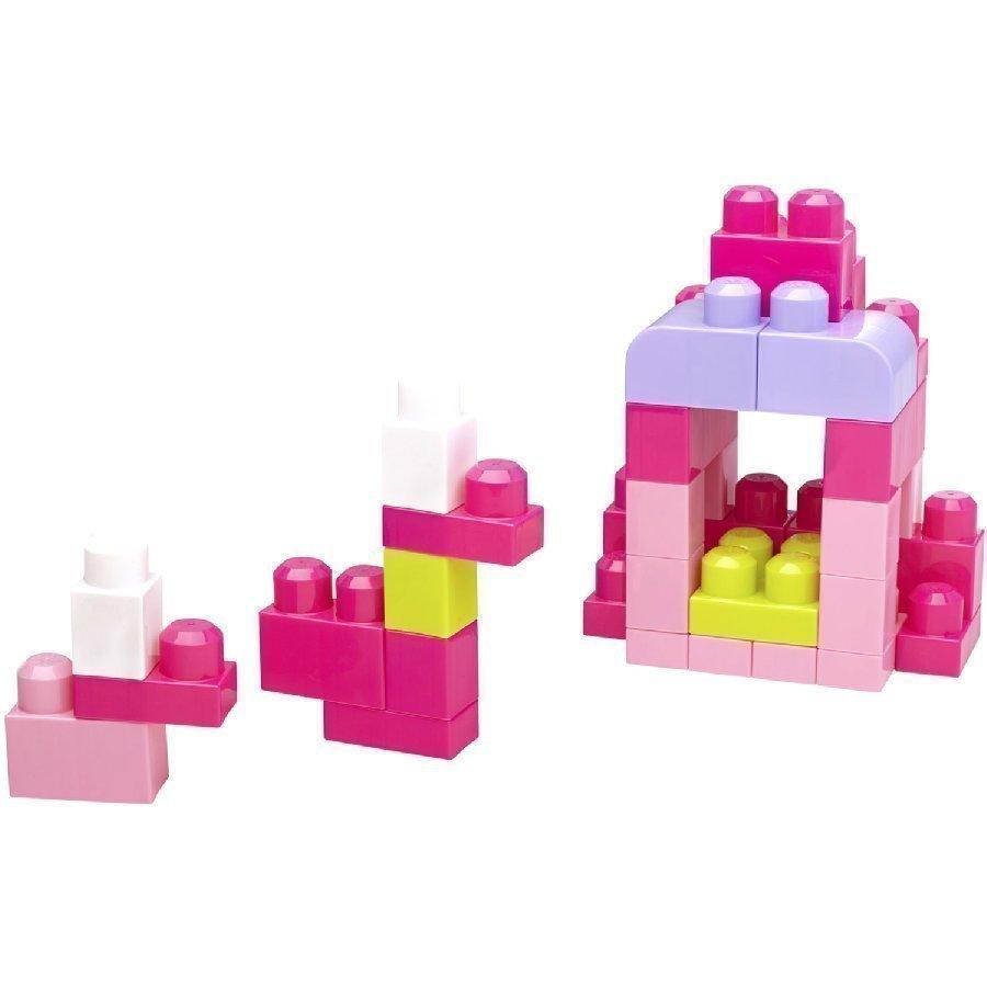 Mattel Mega Bloks First Builders Rakennuspalikat 60 Kpl Pinkki Dch54
