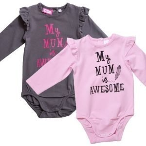 Max Collection Body 2 kpl Grey/Pink