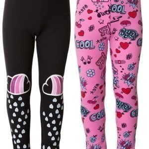 Max Collection Leggingsit 2 paria Pink/Black