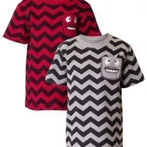 Max Collection T-paita 2 kpl Grey/Red